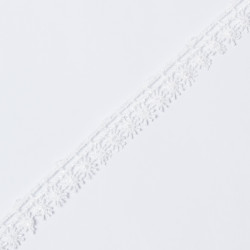 Кружево плетеное KRUZHEVO 13мм белый