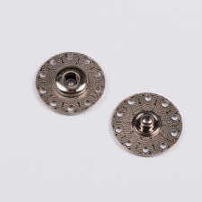 Кнопка пришив. металл 25мм никель
