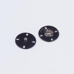 Кнопка пришивная металл 21мм матовый черный