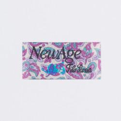 "Термоаппликация ""NewAge"" белый 4,3х2,1см"
