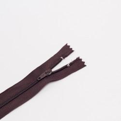 Молния спираль Т4 16см брючная т.коричневый