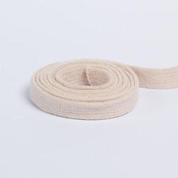 Шнур плоский плетеный 13мм крем