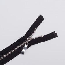 Молния металл Т5 70см черный/серебро