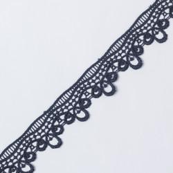 Кружево плетеное KRUZHEVO 40мм т.синий