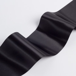 Лента атлас, 100мм черный