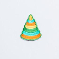 """Термоаппликация """"Пирамидка"""" 6х4,5см"""