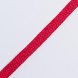 Шнур плоский плетеный 12мм красный