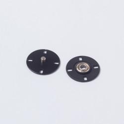 Кнопка пришивная металл 23мм черный
