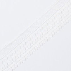 Кружево плетеное KRUZHEVO 65мм белый