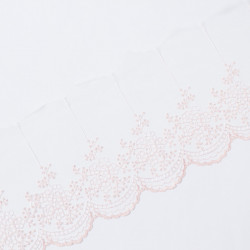 Кружево на сетке KRUZHEVO 100мм розовая пудра