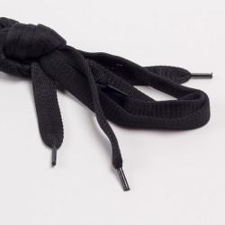 Шнурки обувные плоские 14мм 120см пара черный