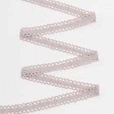Тесьма вязаная KRUZHEVO 20мм серый лен