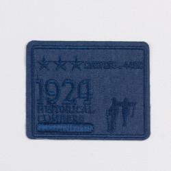 """Термоаппликация """"1924"""" т.синий 8,5х6,7см"""