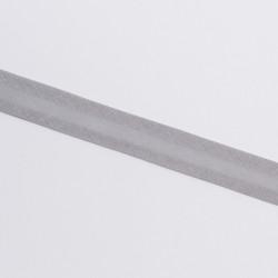 Косая бейка 15мм х/б серый