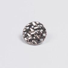 Пуговица пальтовая 24L серебро