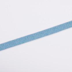 Шнур плоский плетеный 12мм голубой