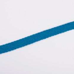 Шнур плоский плетеный 15мм бирюза