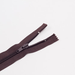 Молния спираль Т7 25см обувная т.коричневый