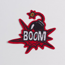 "Термоаппликация ""BOOM"" 9х8см"