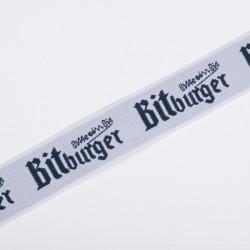 Резина декор. 40мм Bitburger белый синяя надпись