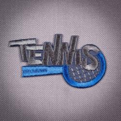 Термоаппликация Tennis 7х3,5см коричневый