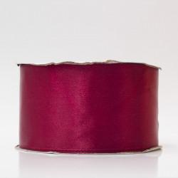 Лента атлас, 50мм бордовый