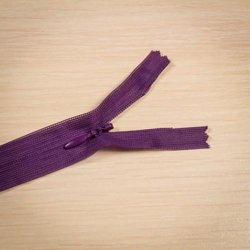 Молния потайная Т3 50 см Греция фиолетовый темный