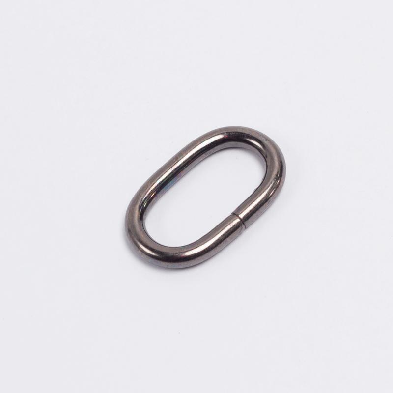 Кольцо овальное металл 20мм черный никель