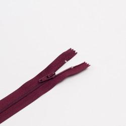 Молния спираль Т3 20см брючная т.бордовый