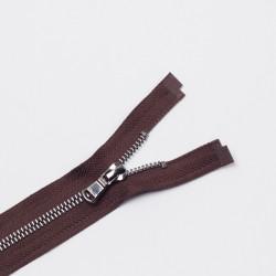 Молния металл Т5 80см разъемная коричневый/черный