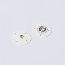 Кнопка пришивная металл 21мм молочный