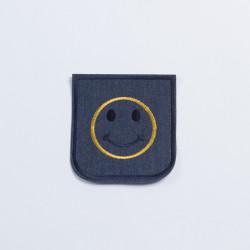 Термозаплатка джинсовая 10х9,5см смайликом