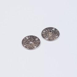 Кнопка пришивная металл 21мм серебро