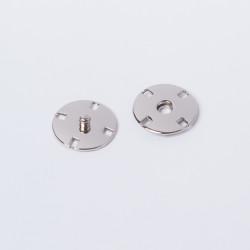 Кнопка пришивная металл 18мм никель