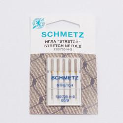 """Иглы машинные """"Schmetz"""" стрейч №65 5шт/уп"""