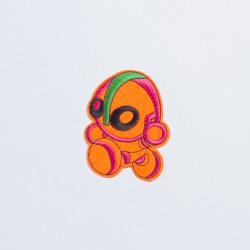 """Термоаппликация """"Робот"""" оранжевый 9,7х7,3см"""