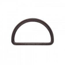 Полукольцо металл литое 40х22мм черный никель
