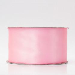 Лента атлас, 50мм яр.розовый