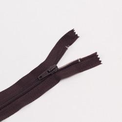 Молния спираль Т7 50см неразъемная т.коричневый