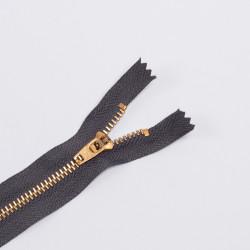 Молния металл Т4 18см джинс серый/золото