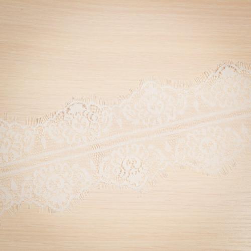Кружево французское 93мм за 1,5м белый
