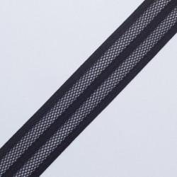 Резина декор. 40мм черная сетка