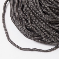 Шнур обувной 4мм темно-серый