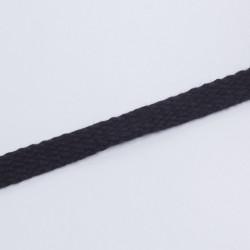 Шнур плоский плетеный 15мм черный