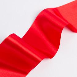 Лента атлас, 100мм красный