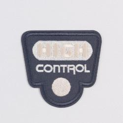 "Термоаппликация  ""HIGH control"" серый 6,5х6,8см"