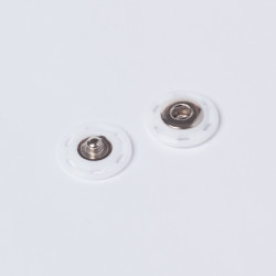 Кнопка пришивная пластик 21мм белый
