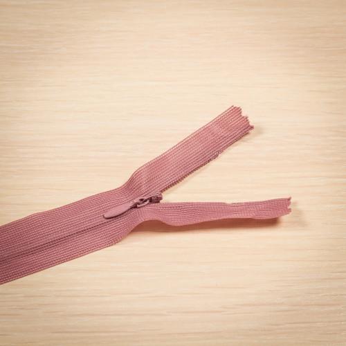Молния потайная Т3 50 см Китай розовый припыленный