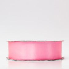Лента атлас, 25мм розовый