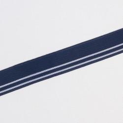 Резина декор. 25мм жаккард т.синий